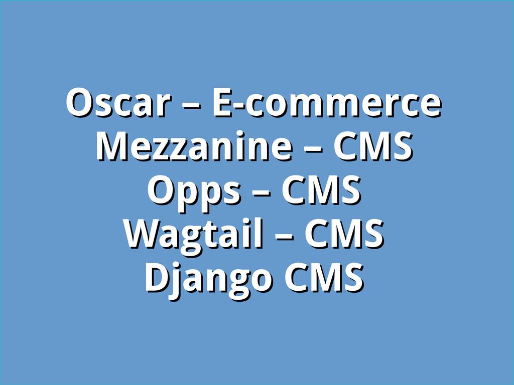 Oscar – E-commerce Oscar – E-commerce Mezzanine...