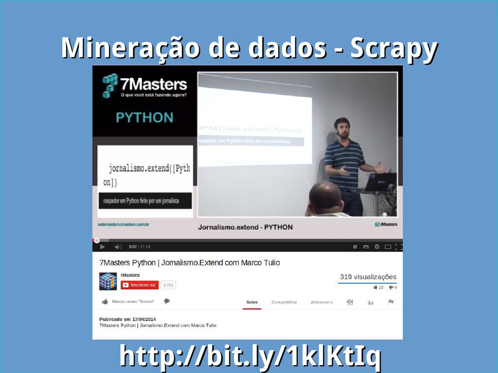 Mineração de dados - Scrapy Mineração de dados ...