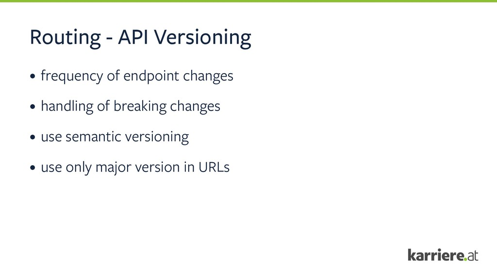 Routing - API Versioning • frequency of endpoin...