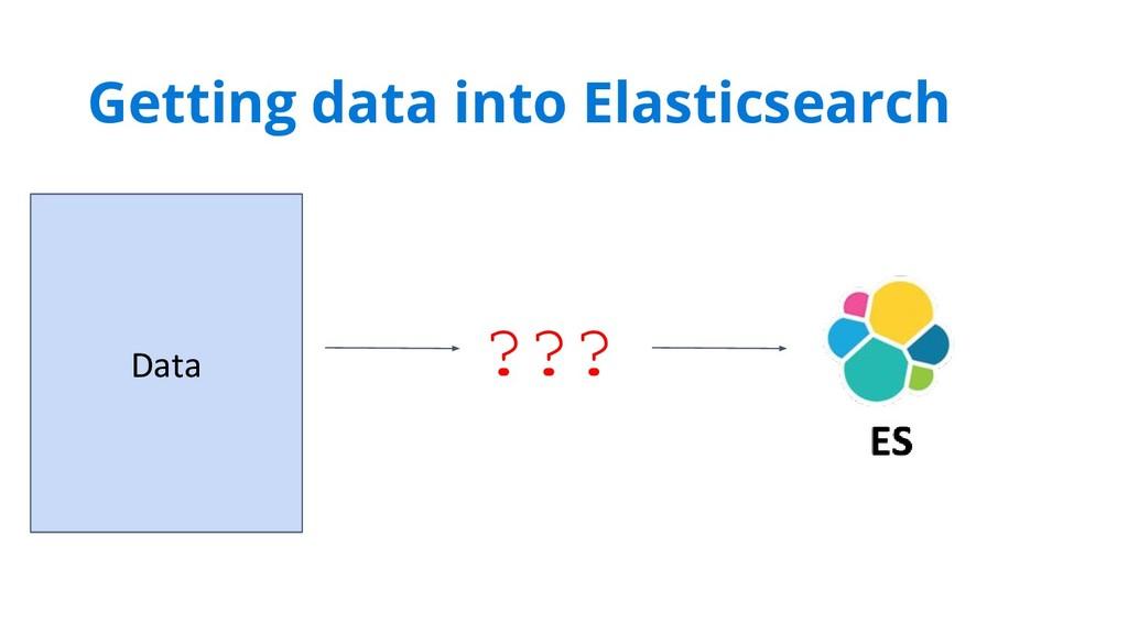 ??? Data Getting data into Elasticsearch