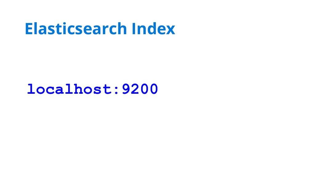 localhost:9200 Elasticsearch Index