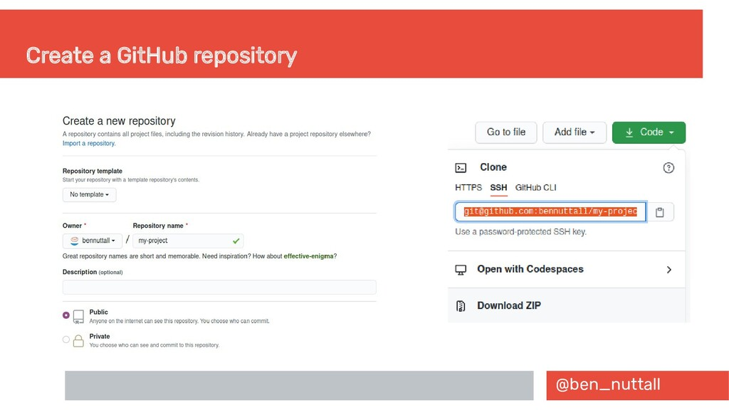 @ben_nuttall Create a GitHub repository