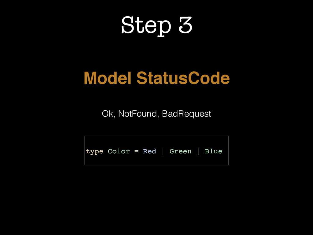 Step 3 Model StatusCode Ok, NotFound, BadReques...