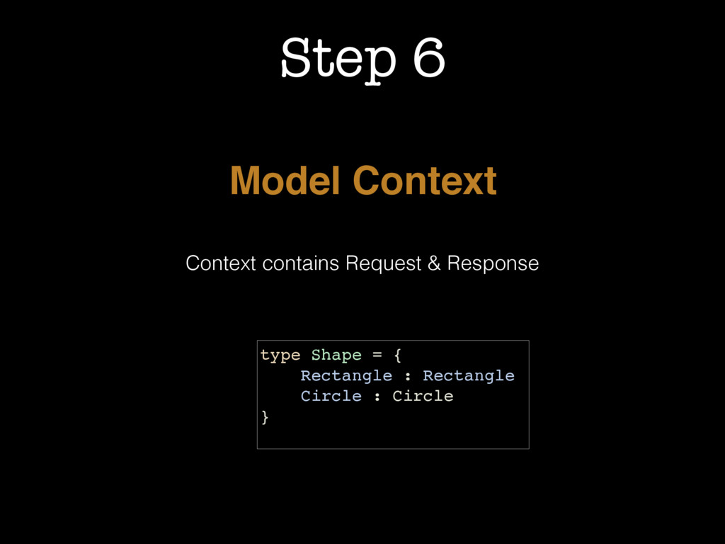 Step 6 Model Context Context contains Request &...