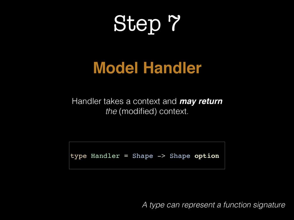 Step 7 Model Handler Handler takes a context an...