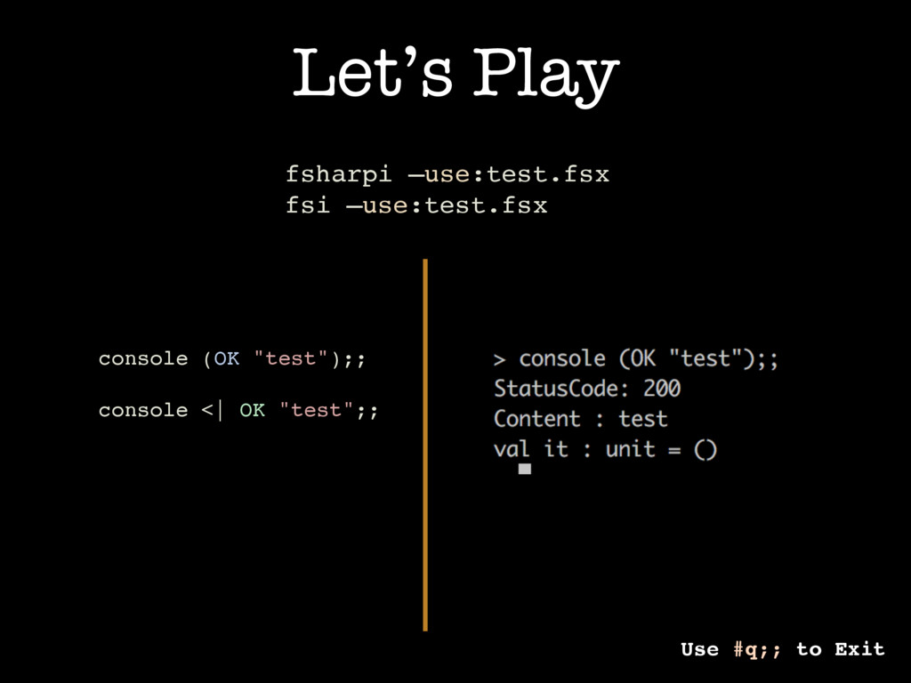 """Let's Play console (OK """"test"""");; console <