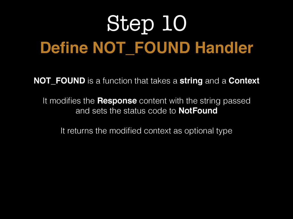 Step 10 Define NOT_FOUND Handler NOT_FOUND is a ...