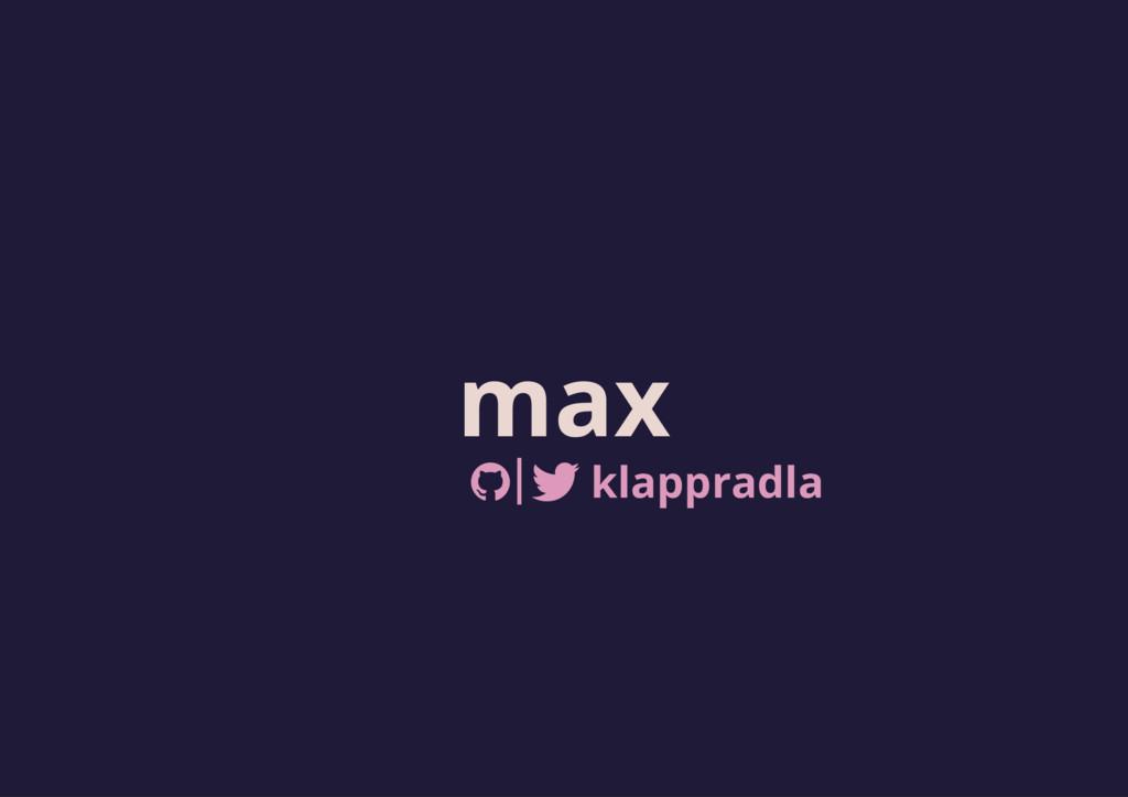 max klappradla