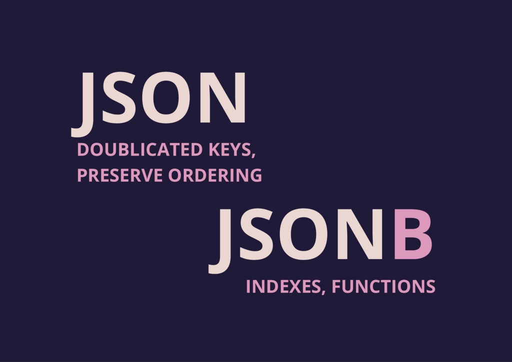 JSON JSONB INDEXES, FUNCTIONS DOUBLICATED KEYS,...