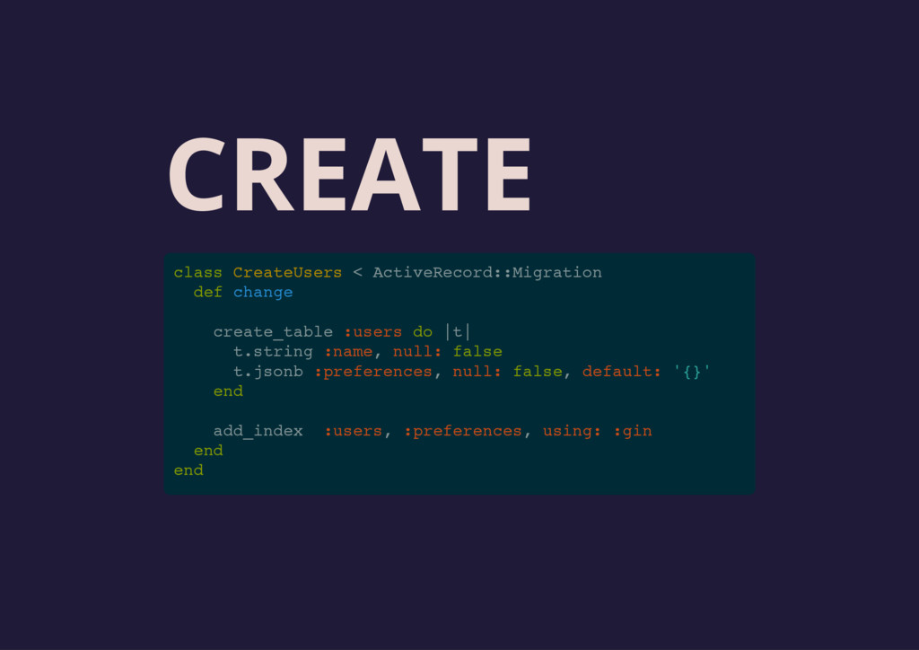 CREATE class CreateUsers < ActiveRecord::Migrat...