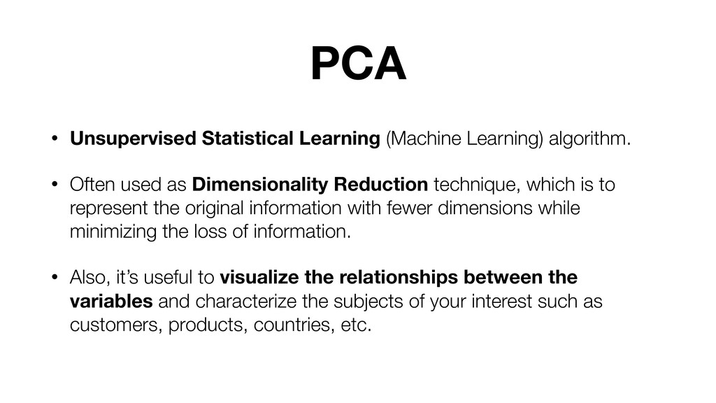 PCA • Unsupervised Statistical Learning (Machin...