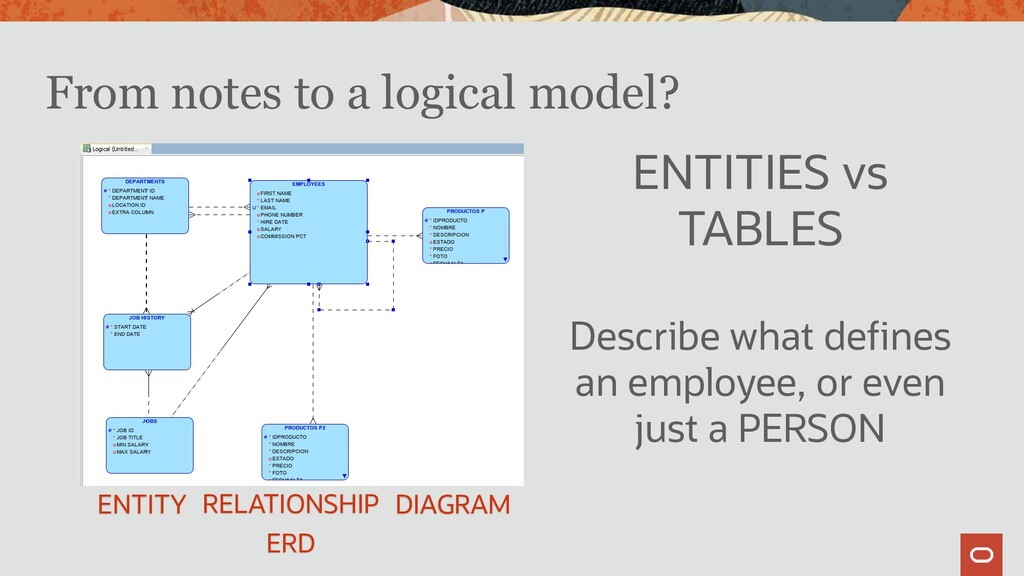From notes to a logical model? ENTITIES vs TABL...