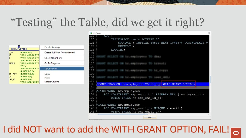 """""""Testing"""" the Table, did we get it right? I did..."""