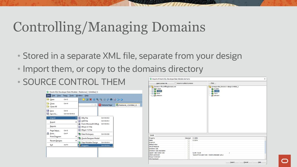 Controlling/Managing Domains • Stored in a sepa...