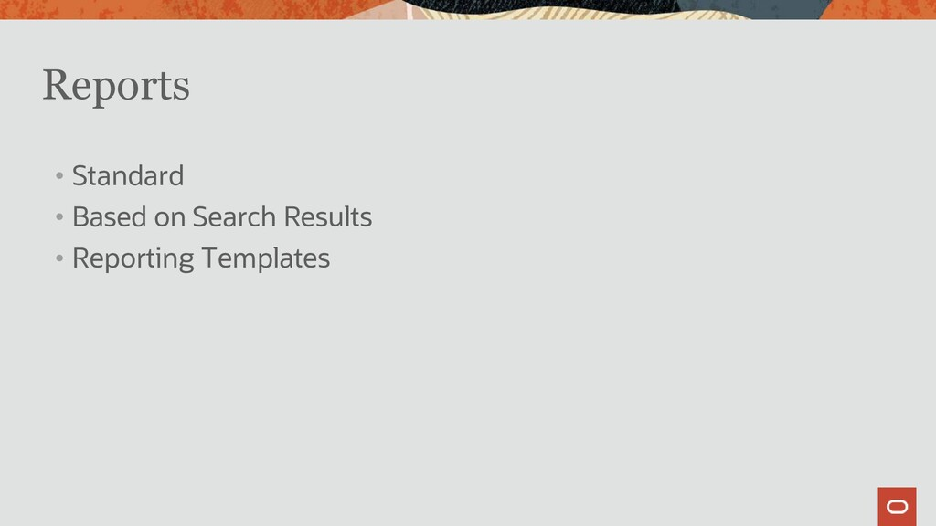 Reports • Standard • Based on Search Results • ...