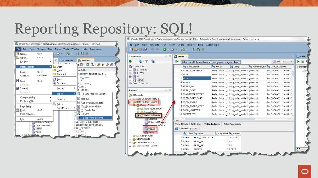 Reporting Repository: SQL!