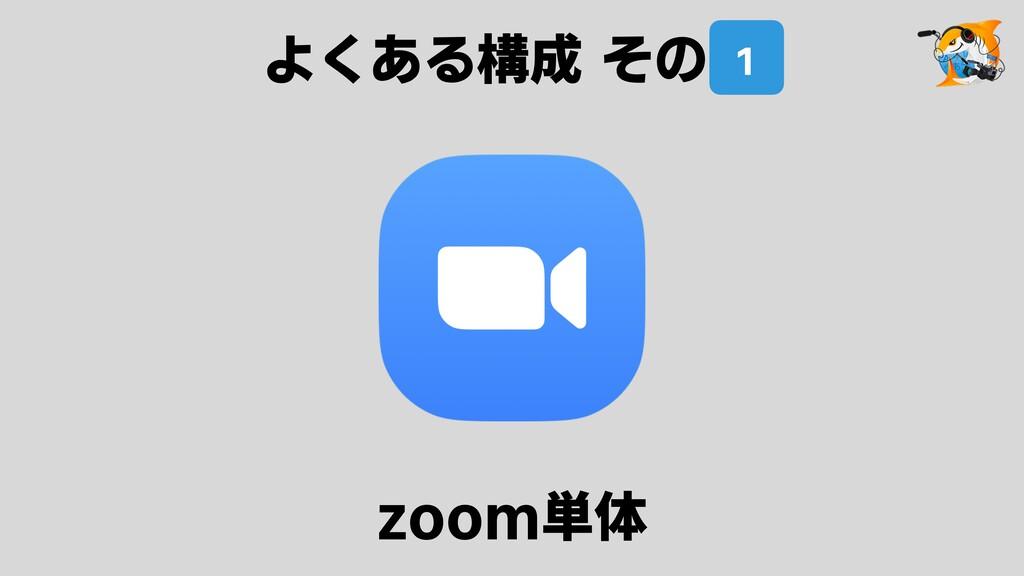 zoom単体 よくある構成 その1 1