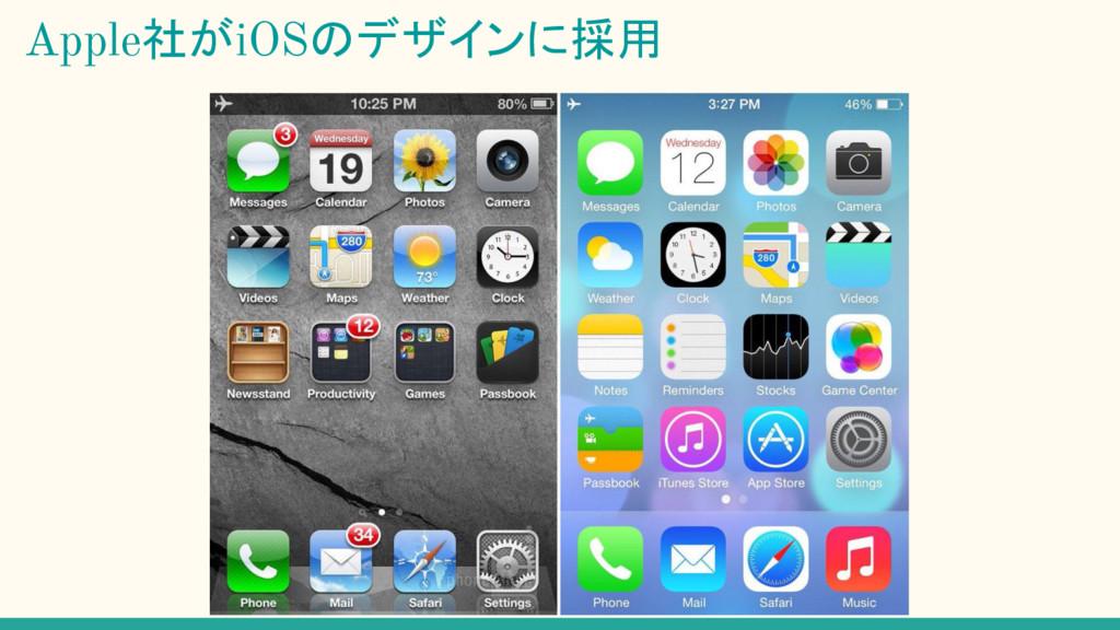 Apple社がiOSのデザインに採用