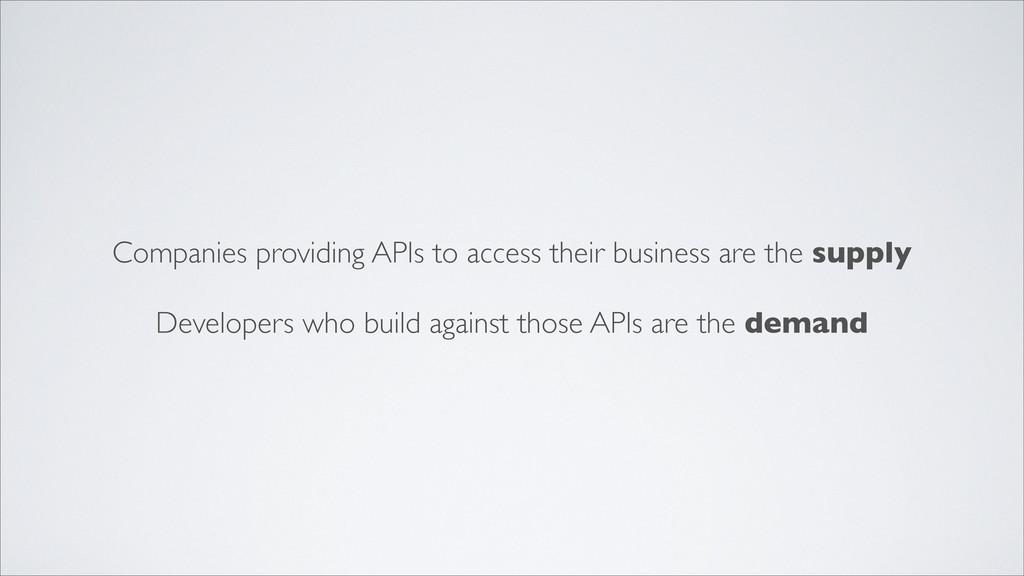 Companies providing APIs to access their busine...