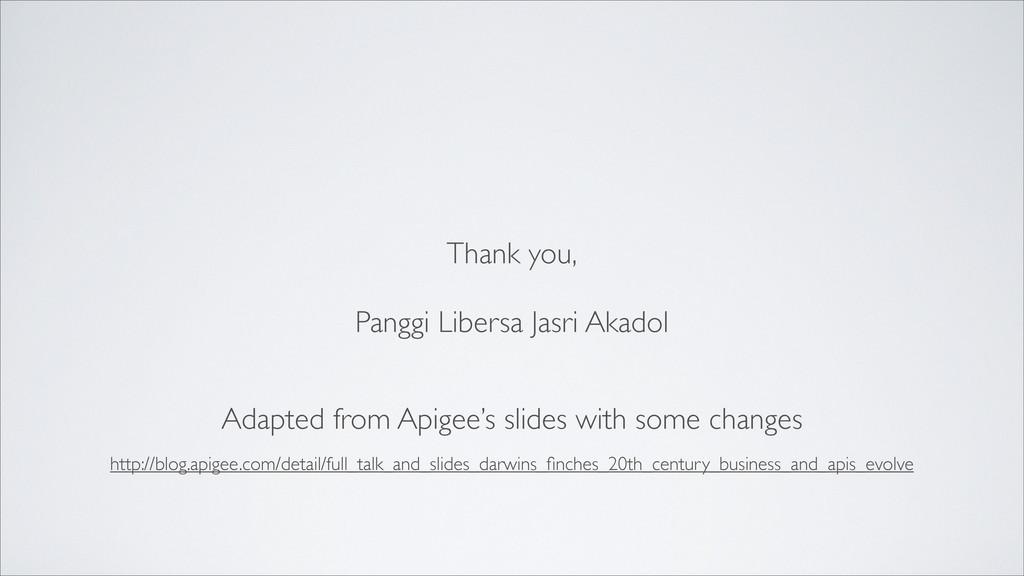 Thank you, Panggi Libersa Jasri Akadol Adapted ...
