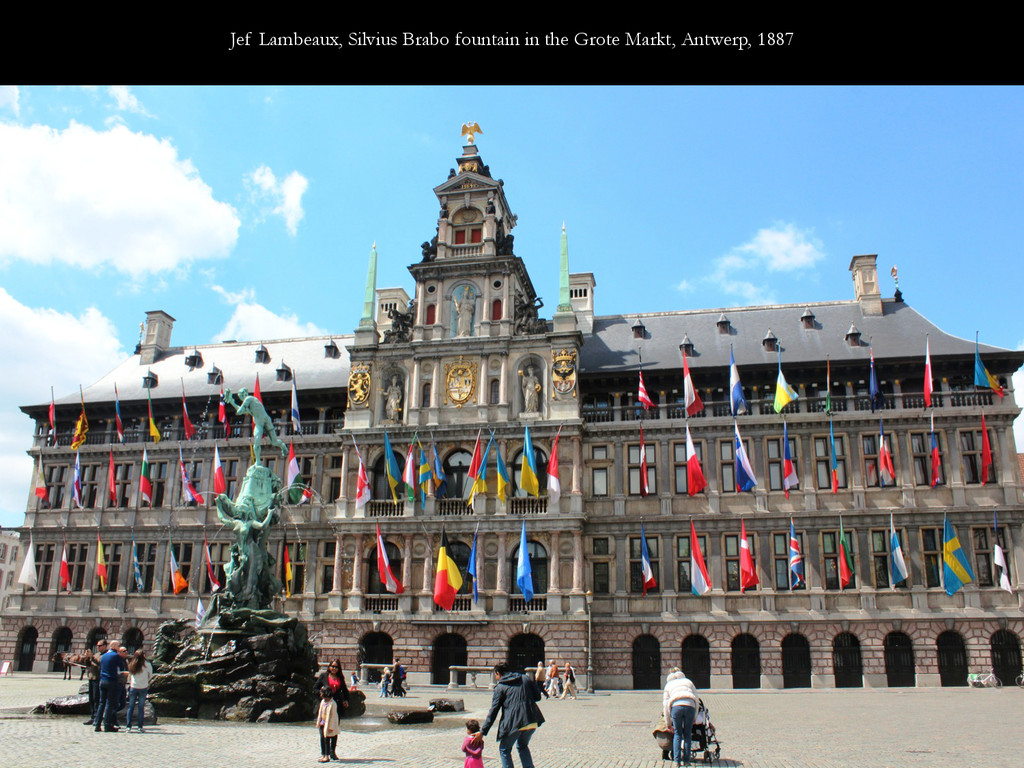Jef Lambeaux, Silvius Brabo fountain in the Gro...