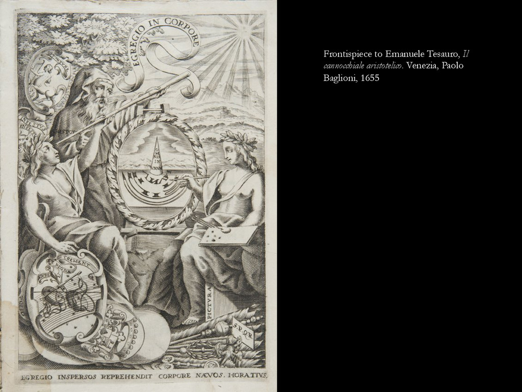 Frontispiece to Emanuele Tesauro, Il cannocchia...