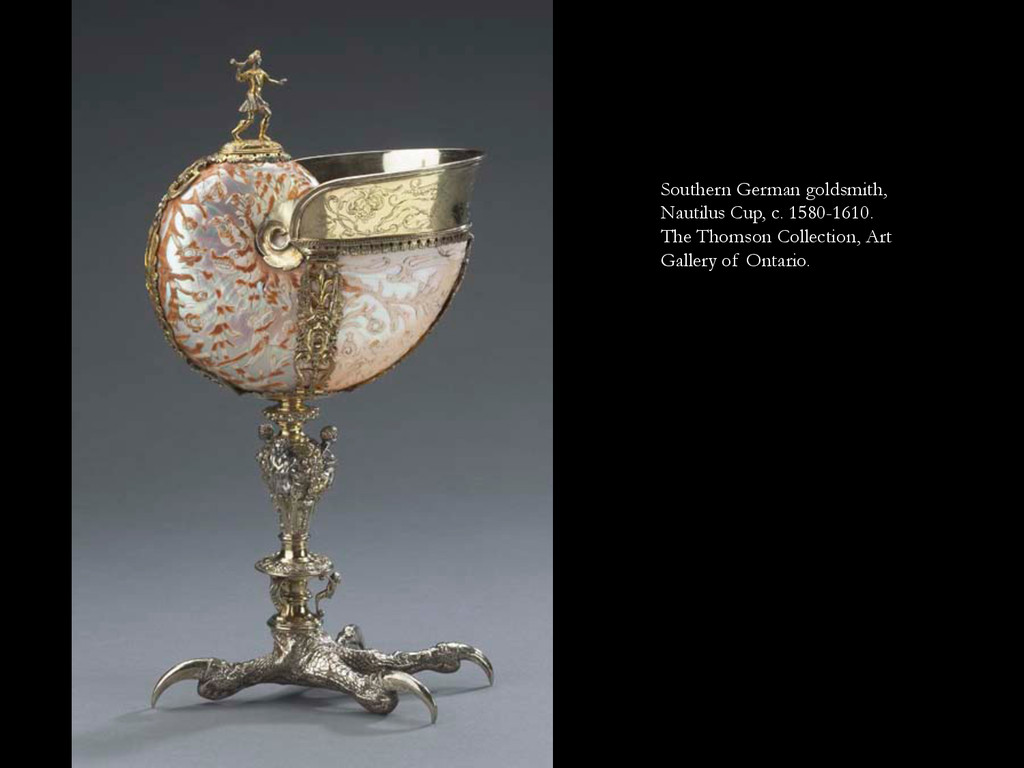 Southern German goldsmith, Nautilus Cup, c. 158...