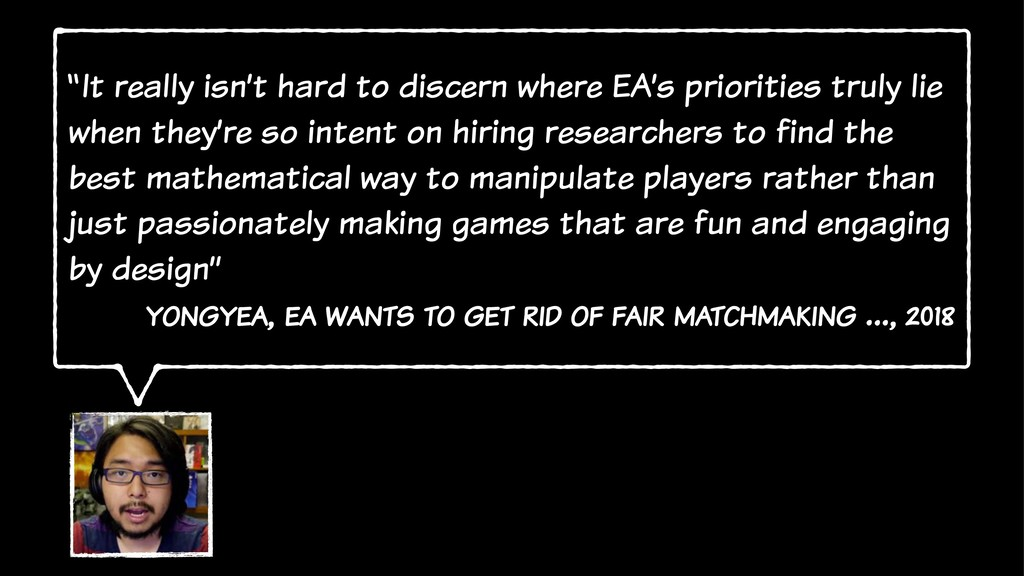 """It really isn't hard to discern where EA's pri..."