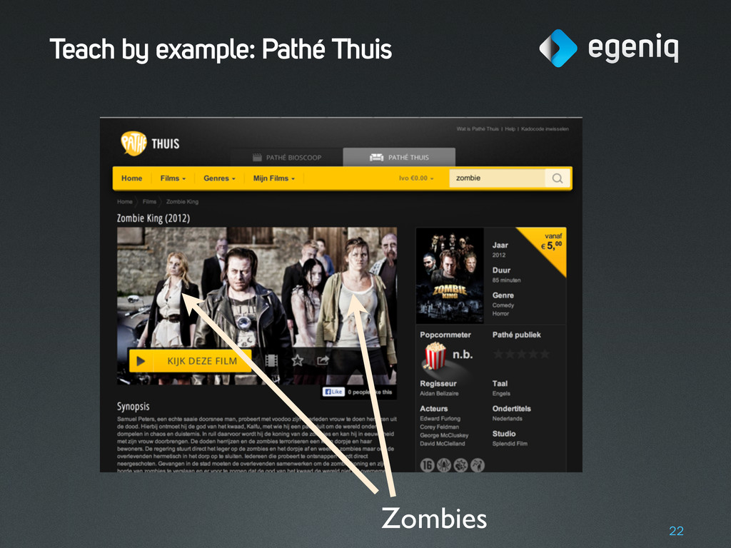 Teach by example: Pathé Thuis 22 Zombies