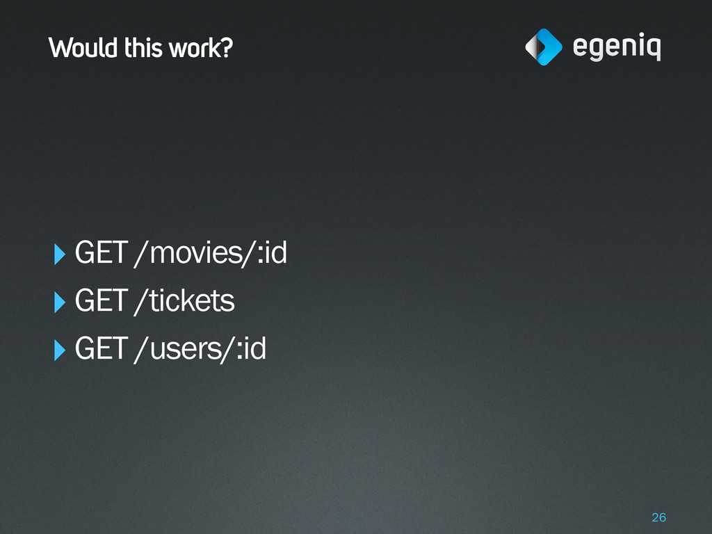 Would this work? ‣GET /movies/:id ‣GET /tickets...