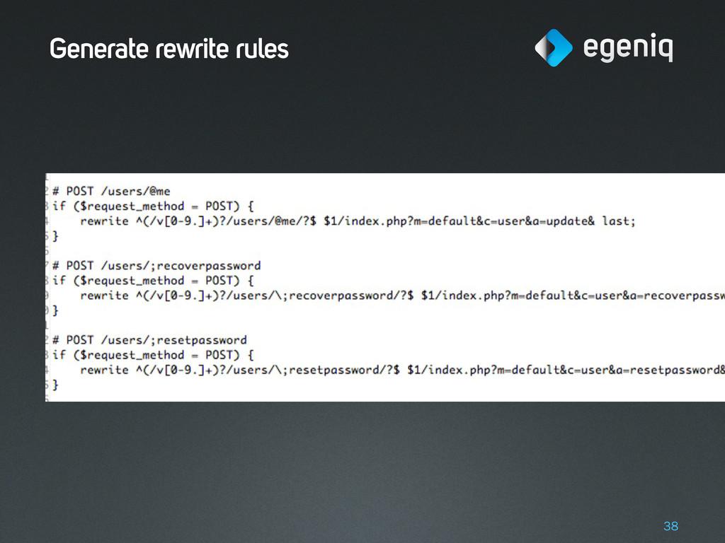 Generate rewrite rules 38