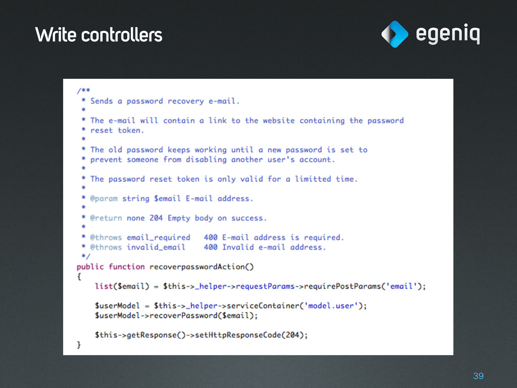 Write controllers 39