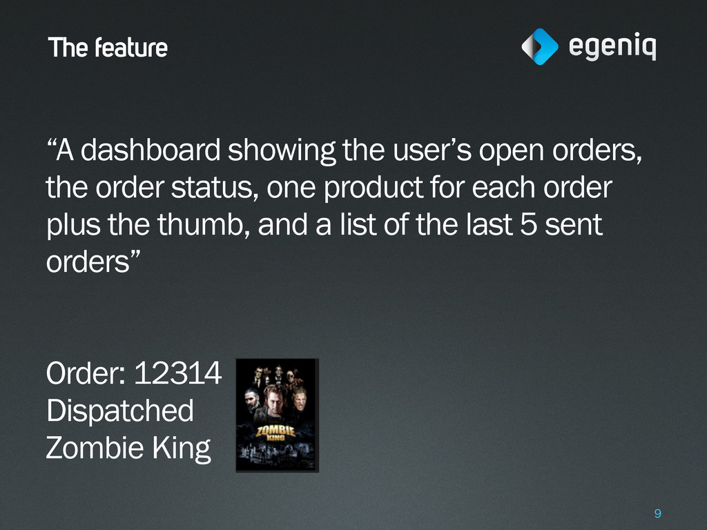 """The feature """"A dashboard showing the user's ope..."""
