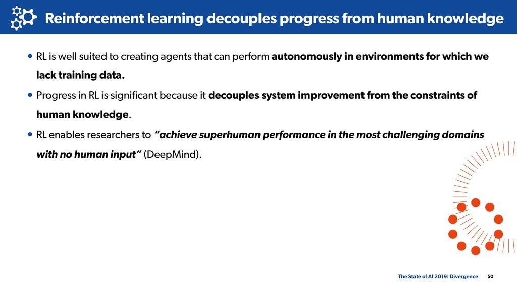Reinforcement learning decouples progress from ...