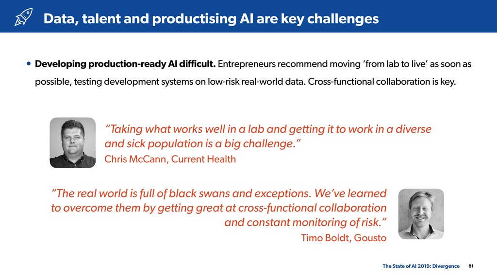 81 • Developing production-ready AI difficult. ...