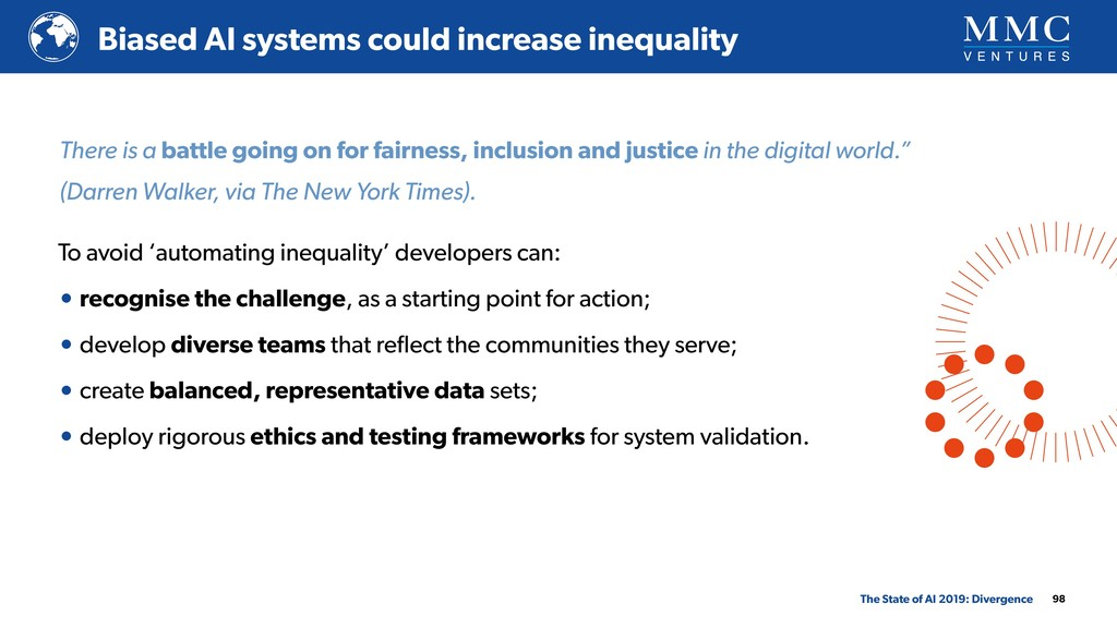 98 Biased AI systems could increase inequality ...