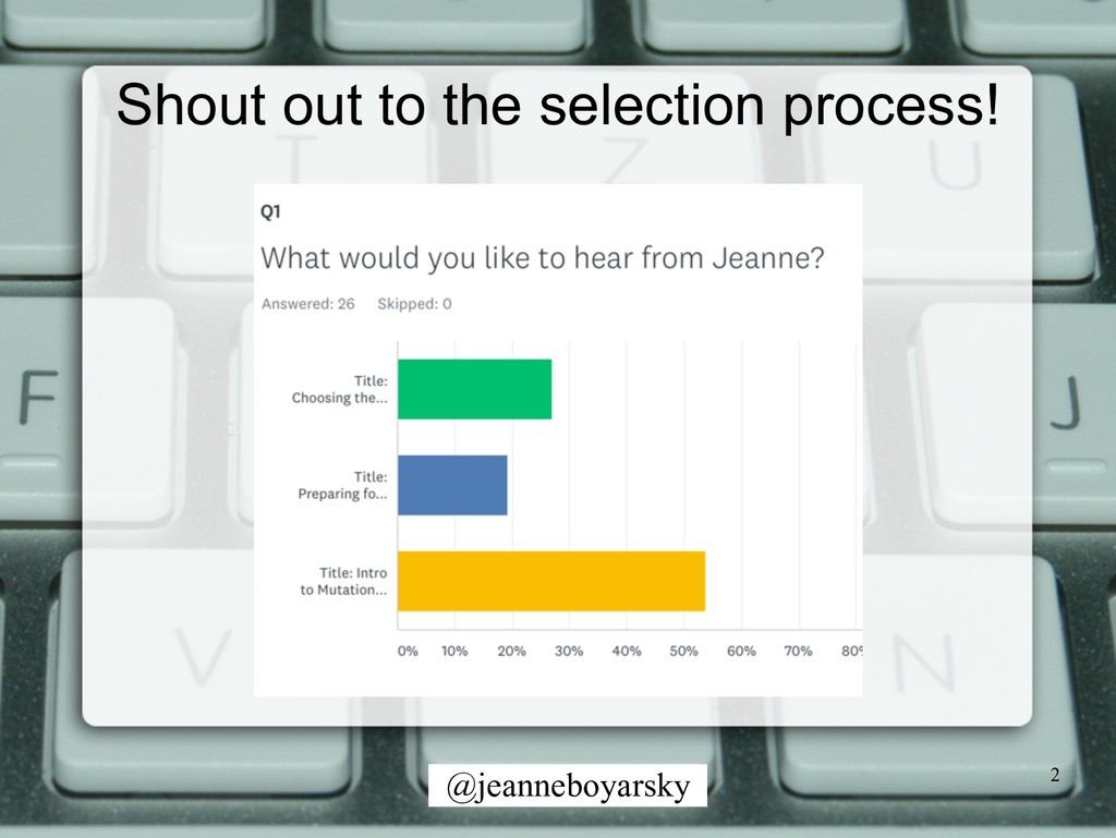 @jeanneboyarsky Shout out to the selection proc...