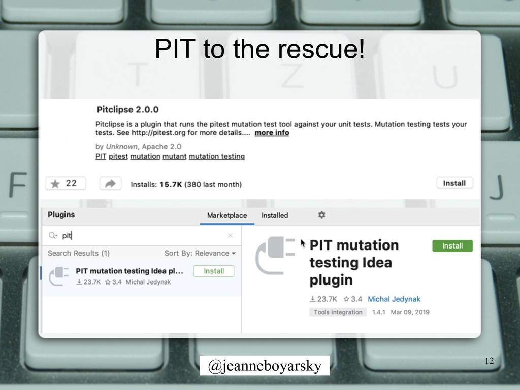 @jeanneboyarsky PIT to the rescue! 12