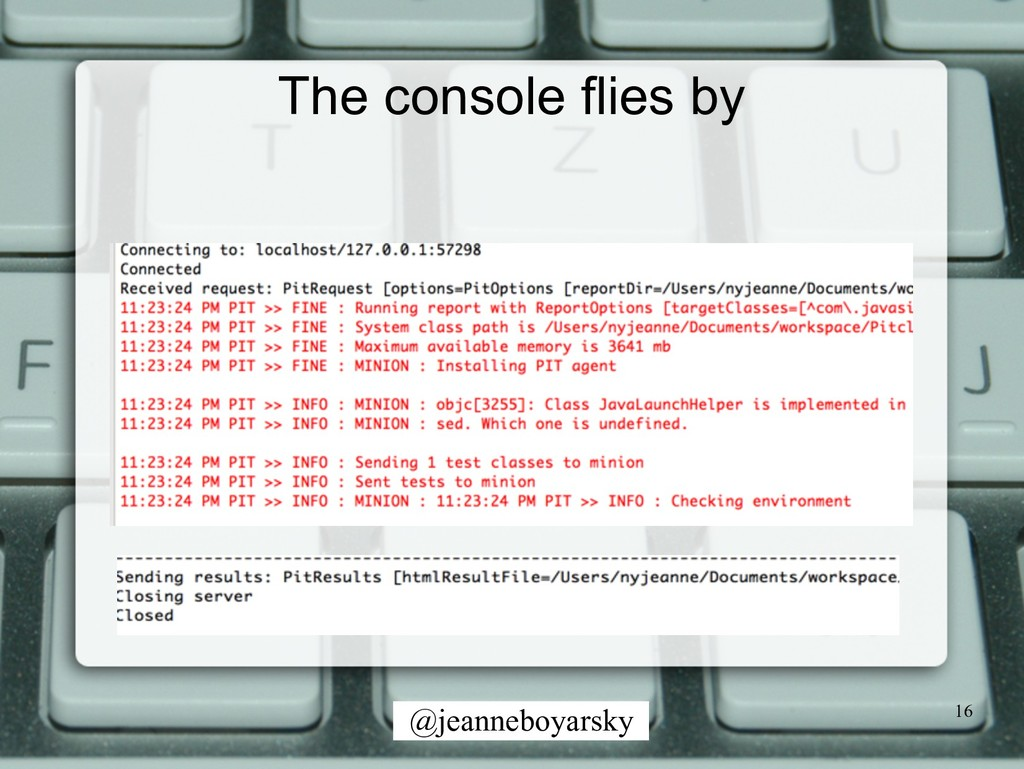 @jeanneboyarsky The console flies by 16