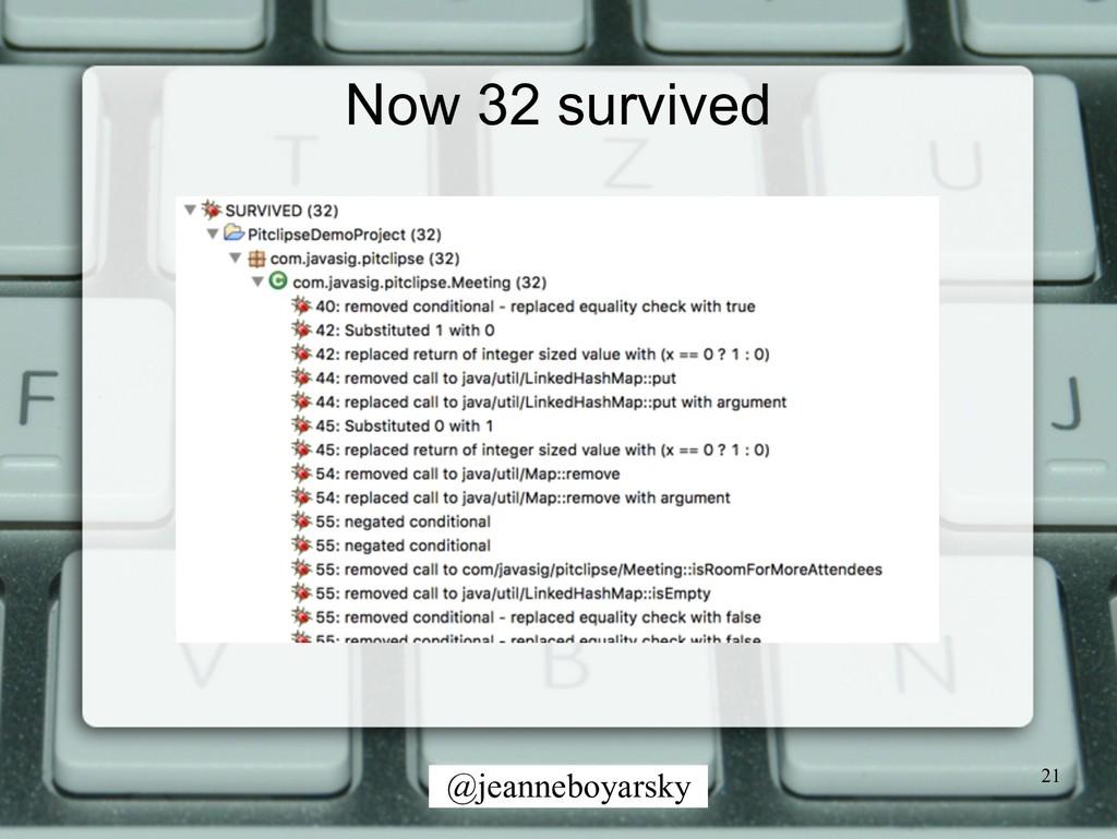 @jeanneboyarsky Now 32 survived 21