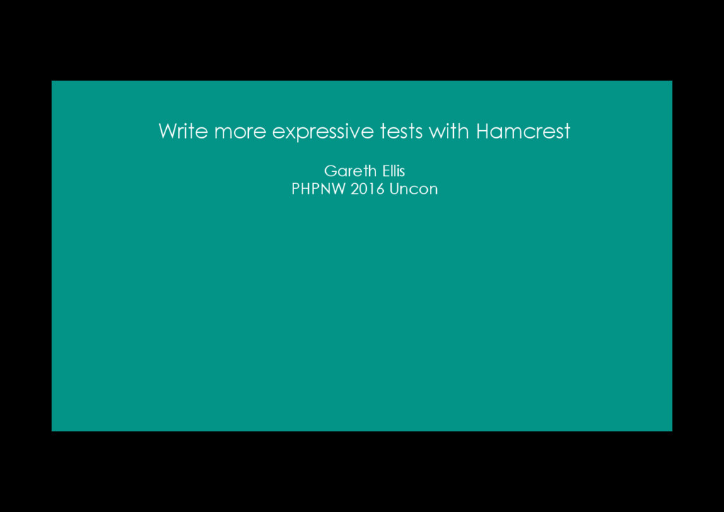 Write more expressive tests with Hamcrest Garet...