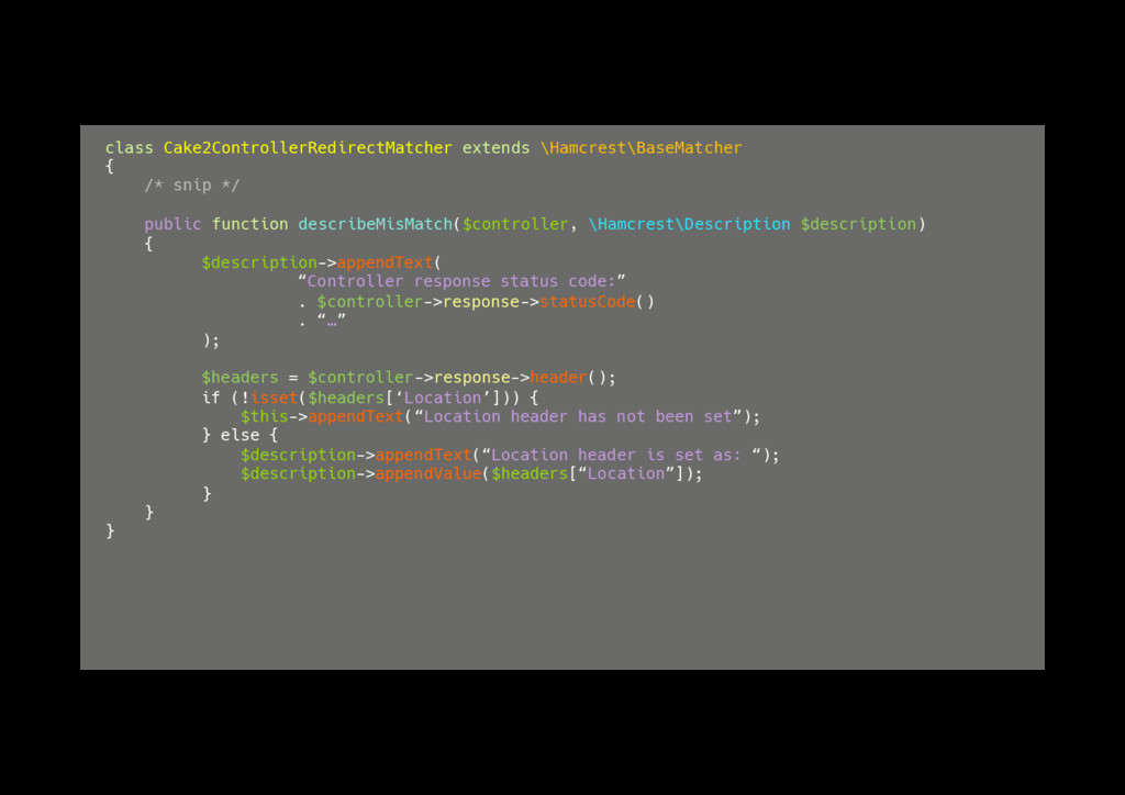 class Cake2ControllerRedirectMatcher extends \H...