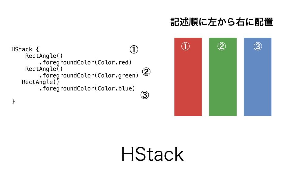 )4UBDL HStack { RectAngle() .foregroundColor(Co...