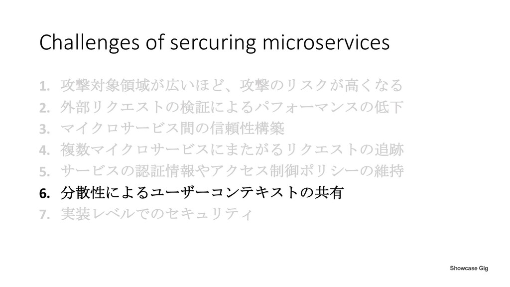 Challenges of sercuring microservices 1. 攻撃対象領域...