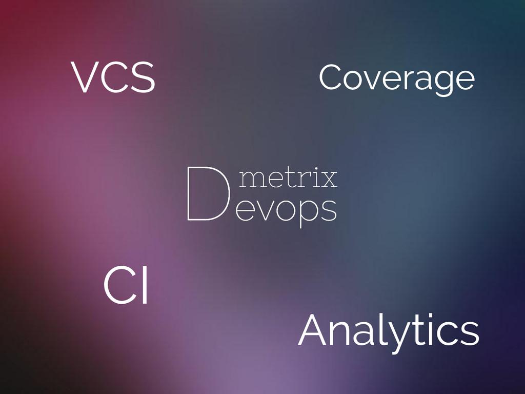 VCS CI Analytics Coverage