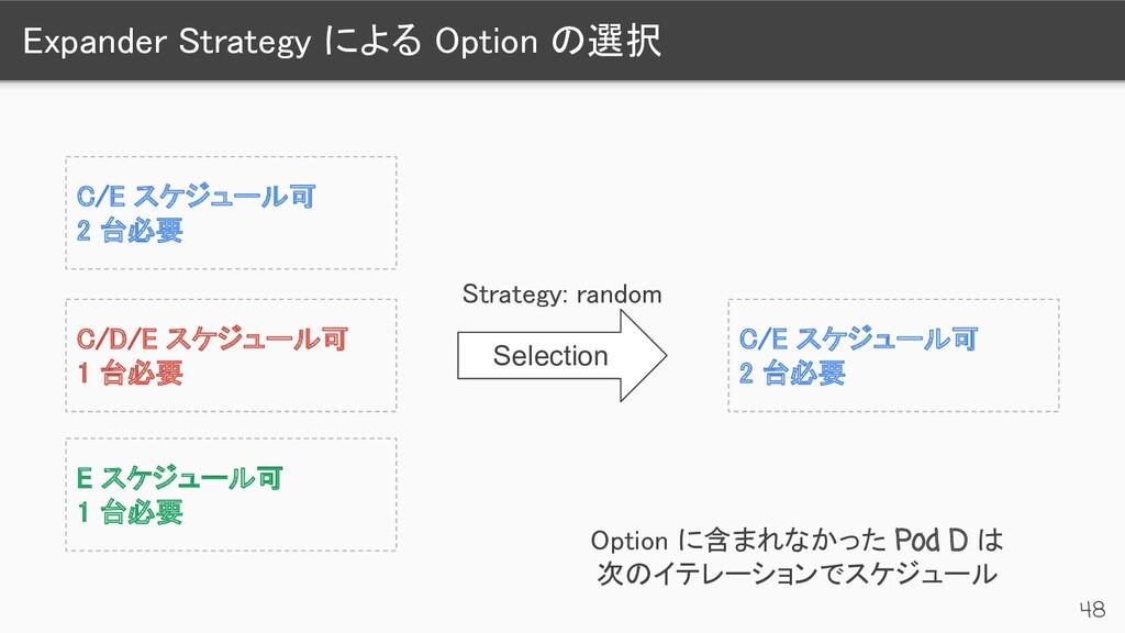 Expander Strategy による Option の選択 48 C/E スケジュール...