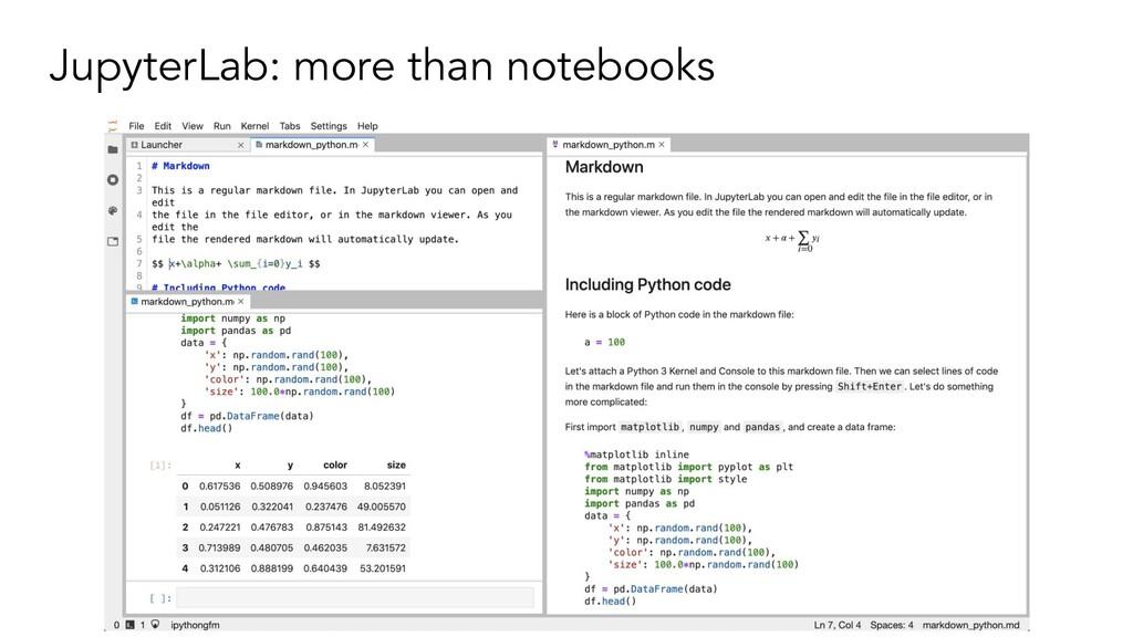 JupyterLab: more than notebooks