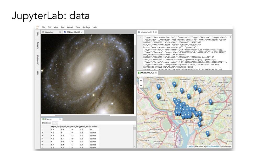 JupyterLab: data