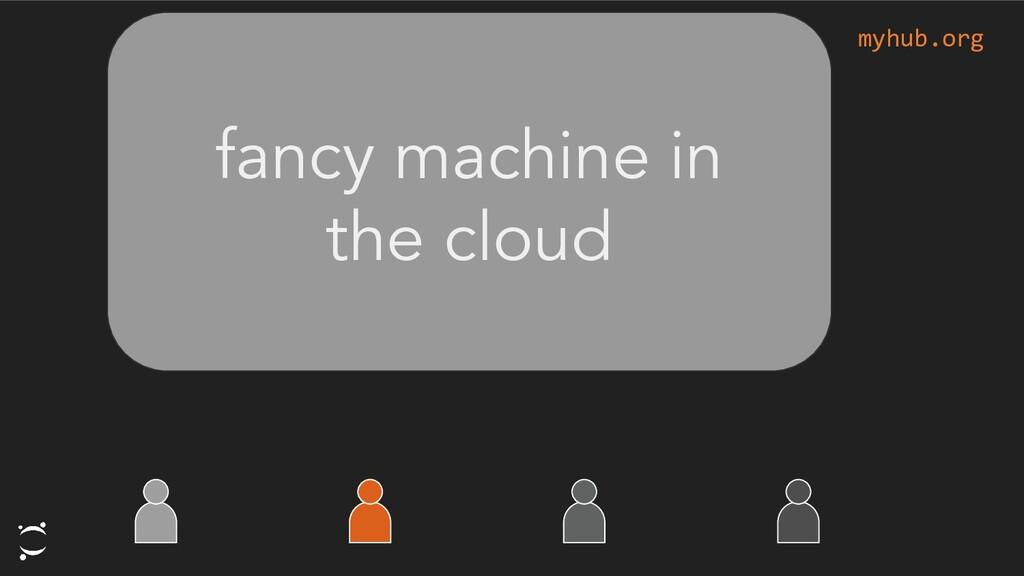 myhub.org fancy machine in the cloud