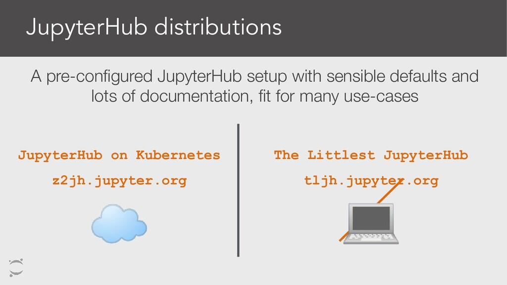 JupyterHub distributions The Littlest JupyterHu...